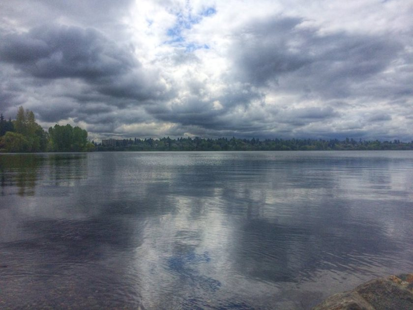 seattle greenlake water lake clouds hdr photography