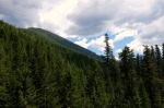 mountains hiking washington clouds pine trees pacific northwest