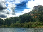 table rock rogue river jetboat clouds mountain sky photography