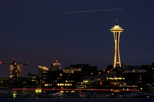 seattle space needle nighttime photography