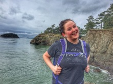 Mary, having fun at Deception Pass